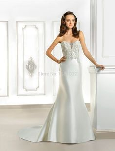 5ddd22203b 2015 New Beading Strapless Mermaid Wedding Dresses Off the Shoulder Buttons  all the Way Court Train