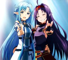 Asuna and Yukki Sword Art Online