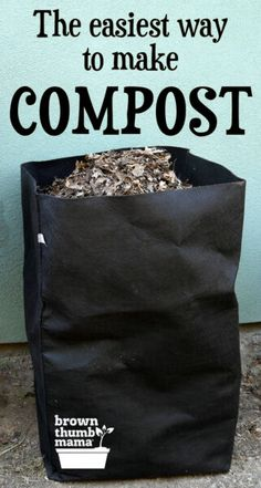 It's easy to make compost for your garden! Composting is a great way to convert home and garden waste into nourishing soil. Here are three easy ways to make compost. #Gardening #OrganicGardening #ForBeginners