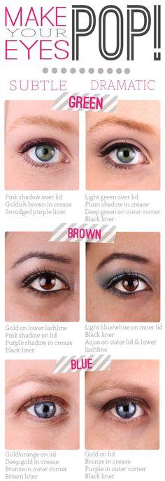 Makeup Tip: Make Your Eye Color Pop @ StylinDaysStylinDays