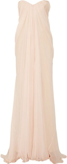 Draped Silk-chiffon Gown Draped Silk-chiffon Gown