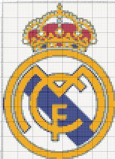 Dibujos Punto de Cruz Gratis: Escudo Real Madrid - Punto de Cruz