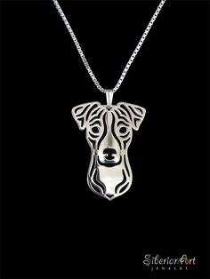 Jack Russell Terrier jewelry - sterling silver pendant and necklace