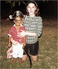 Obama as a kid with his mom, so cute.
