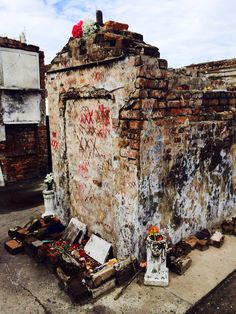 Tomb of Marie Laveau, St. Louis Cemetery No. 1, New Orleans