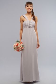 / Column Straps Hand-Made Flower Sleeveless Ankle-length Chiffon Bridesmaid Dresses / Prom Dresses / Evening Dresses Empire Bridesmaid Dresses, Maternity Bridesmaid Dresses, Bridesmaid Dresses Online, Wedding Bridesmaid Dresses, Bridesmaids, Prom Dresses, Long Dresses, Dresses 2013, Dress Long