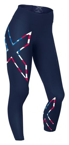 8ec7e0b52c 2XU Mid-Rise Compression Tights // 4th of July Activewear Triathlon, Yoga  Fitness