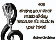Yes they do get stuck in my head I'm constantly singing and huming the warm up's and the songs that I sung in middle school and high school