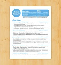 Resume Design and Writing: Custom Resume Writing & Design Service - Hip, Modern Design - The Jessica Alexander