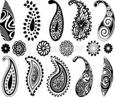 idea for stamps/clay paisley Motif Paisley, Paisley Art, Paisley Design, Paisley Pattern, Paisley Doodle, Henna Patterns, Zentangle Patterns, Zentangles, Mehndi