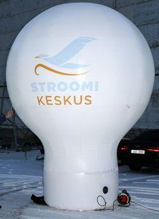 4 m kõrgune pall Stroomi Keskus - http://www.reklaamkingitus.com/et/taispuhutavad-reklaampallid/