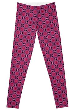 d2d5e3ebf45189 Medallion Pattern Magenta Leggings by TC-TWS Magenta, Yoga Pants, Capri  Pants,