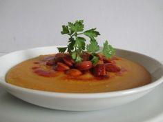 Sárgaborsó főzelék Cheeseburger Chowder, Thai Red Curry, Soup, Ethnic Recipes, Meatless Recipes, Soups
