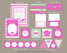 We Heart Parties: Free Printable Party Decor, Banners, Cupcake Toppers, Water Bottle Labels A Tutu Cute Party