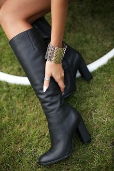 Leather black high boots by Yarose Shulzhenko Check our website to see more ;)