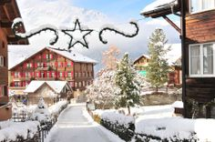 Discover Winter Magic of Beautiful Mountain Villages from Around the World Wengen Switzerland, Winter Magic, Mountain Village, Around The Worlds, Mountains, Nature, Outdoor, Beautiful, Twitter
