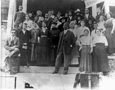 One of the major social events for African Americans in Charlotte was the Christmas reception at the home of Bishop George Wiley Clinton, minister atLittle Rock A.M.E. Zion Church. You see the Bishop standing at the front with his wife over his left shoulder.