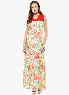 Buy Athena Multicoloured Printed Maxi Dress for Women Online India, Best  Prices, Reviews |