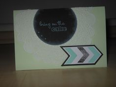 Geburtstagskarte - bring on the cake!
