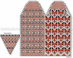 Baby Boy Knitting Patterns, Knitting Charts, Easy Knitting, Knitting Stitches, Knitting Socks, Mittens Pattern, Knit Mittens, Knitting Needle Storage, Knitted Christmas Stockings