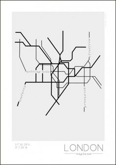 London map poster by Kreativum London Map, Publication Design, Poster Pictures, London Underground, Map Design, Hanging Wall Art, Wall Hangings, Brochure Design, Graphic Design Inspiration