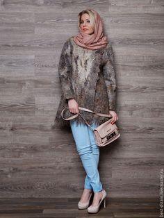 Купить Валяная куртка « Туманный Альбион» - коричневый, валяная куртка, куртка, куртка женская