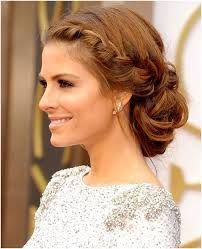 Image result for wedding messy side low bun front view braid