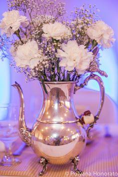 Centerpiece Tea Pot Flowers