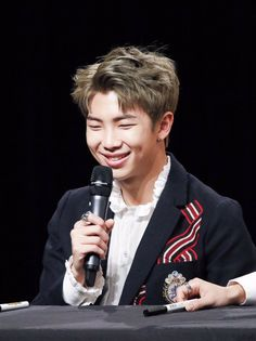 Namjoon ❤️ those dimples are so cute omg aw