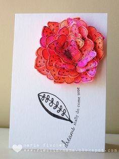 butterfly flower card, sweet : )