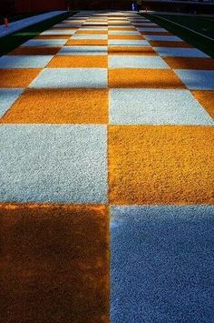 Beautiful Checkered! ~ Check this out too ~ RollTideWarEagle.com sports stories that inform and entertain. Plus Train Deck FREE online football tutorial to learn the rules of the game you love, #Collegefootball #Vols #UT