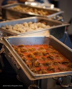Photo: Buffet style catering for a wedding reception