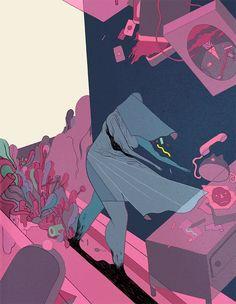Beautiful drawings by Danish illustrator Rune Fisker. More images below.            Rune Fisker's Website