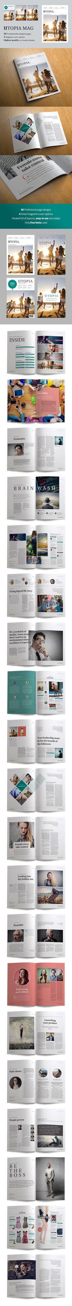 Utopia magazine by CRS Design on @graphicsmag