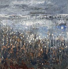 Waterland door Yolanda Philippens - Te huur/te koop via Kunsthuizen.nl. Original oilpainting on Canvas, 100x100cm. #YolandaPhilippens #Kunsthuizen.nl #art #abstract #landscape #painting #kunst #kunstuitleen