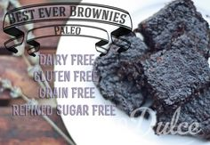 Paleo Brownies (main base ingredients: cocao powder, flaxseed meal, coconut milk)