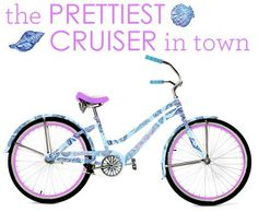 Lilly Pulitzer bike... I would ride this ALL summer long!