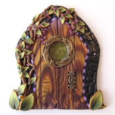 Ambrosia Fairy Door Pixie Portal by Claybykim on Etsy, $22.00