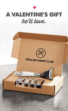 Have a silky smooth Valentine's Day. Give him a membership in Dollar Shave Club. Amazing razors delivered for just a few bucks. Gift the Club today.