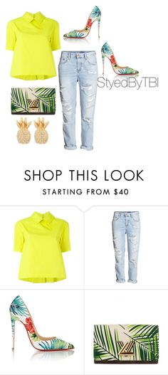"""""""Untitled #240"""" by styledbytbi ❤ liked on Polyvore featuring I'm Isola Marras, H&M, Christian Louboutin, Louis Vuitton and Lilly Pulitzer"""
