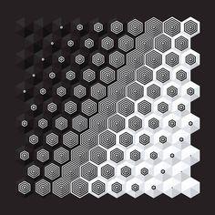 Uyo out Source by aramradomski 3d Pattern, Pattern Design, Geometric Designs, Geometric Art, Muster Tattoos, Texture Design, Sacred Geometry, Textures Patterns, Zentangle