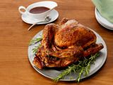 Pomegranate-Glazed Turkey With Wild Rice Stuffing Recipe