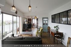 青いドア Oversized Mirror, Interior, Blue, Furniture, Home Decor, Summer, Decoration Home, Summer Time, Indoor