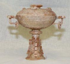 Archaic Jade Vessel. Han Warring States.