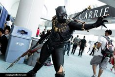 Wow! Awesome Black Panther cosplay!