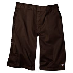 Dickies Men's Big & Tall Loose Fit Twill 13 Multi-Pocket Work Short- Dark Brown 44