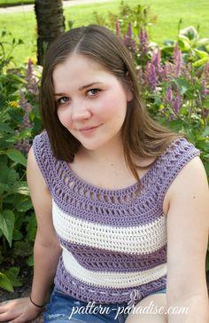 Garden Tank Top - free crochet pattern