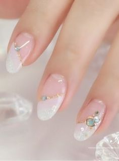 35 Simple Ideas for Wedding Nails Design 2 - Nails Art Ideas Simple Wedding Nails, Wedding Nails Design, French Nails, Gorgeous Nails, Pretty Nails, Nail Manicure, Nail Polish, Gel Nagel Design, Japanese Nails