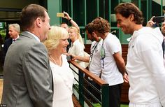 Camilla met the 14-time grand slam champion  Rafa Nadal at the All England Club, where she watched the action from the royal box