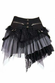 Gothic Steampunk ROCK Schwarz/Grau Petticoat Skirt Einheitsgröße RQ-BL Make this with a front piece and a back piece and lace up both sides. Outfits Kawaii, Punk Outfits, Gothic Outfits, Cool Outfits, Fashion Outfits, Fashion Clothes, Style Fashion, Fashion Ideas, Fashion Tips